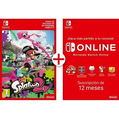 Splatoon 2 Switch Descarga Digital + 12 Meses Nintendo Switch Online