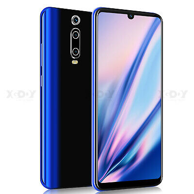"9T 6.3"" Android 9.0 Mobile Smart Phone Unlocked Quad Core Dual SIM Cheap Phablet"