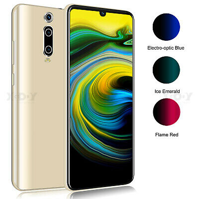 """6.3"""" Android 9.0 Smartphone Large Touch Screen Mobile Phone Unlocked 2 SIM 4Core"""