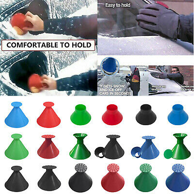 Magical Car Windshield Snow Remover Ice Scraper Cone Shaped Round Funnel Set