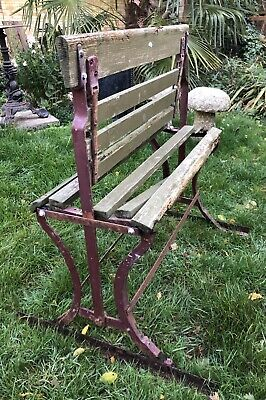 Antique Train Platform Bench Reversible Tram Seat Double Sided - Shabby Chic