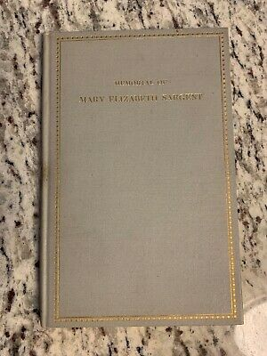 "circa 1904 Antique Book ""Memorial of Mary Elizabeth Sargent"""