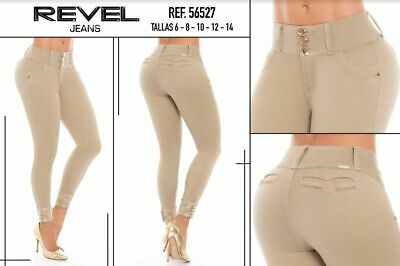 REVEL,Jeans Colombianos, Authentic Colombian Push Up Jeans,USA Size 3
