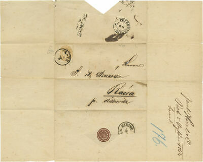 Theodor Herzl's Family Seal, rare letter from his father, 1864, Pest