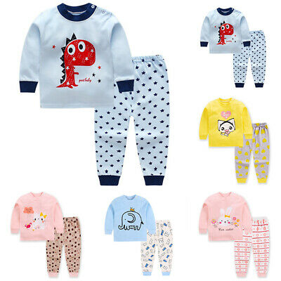 Girls Tops+pants Toddler Cotton Outfit Pullover Tops+pants Boys Autumn