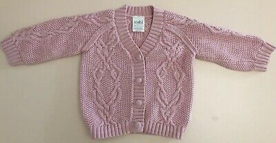 Toshi Pink Knit Baby Jumper NEW Size 1