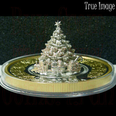2020 Moving Christmas Train - $50 5 OZ Pure Silver Proof Gold-Plated Coin Canada