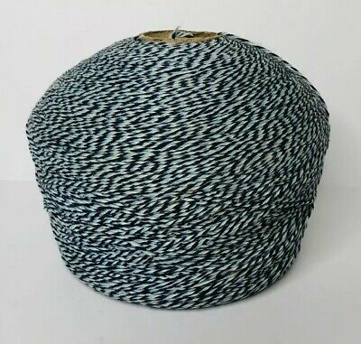 Vintage Avondale Large Blue White Yarn Twine Cone 5 Pounds