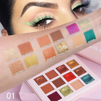 12Color Matte Eyeshadow Natural Glitter Eye Shadow Eye Palette Cosmetic Makeup c