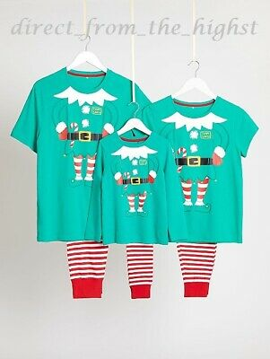 Family Christmas Elf Pyjamas Matching _Mummy_Daddy_Sister_Brother_Tiny_Cheeky...