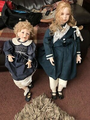 Adorable Masterpiece Large  Doll Blonde Girl Artist Lot Of 2 Nice Rare Read