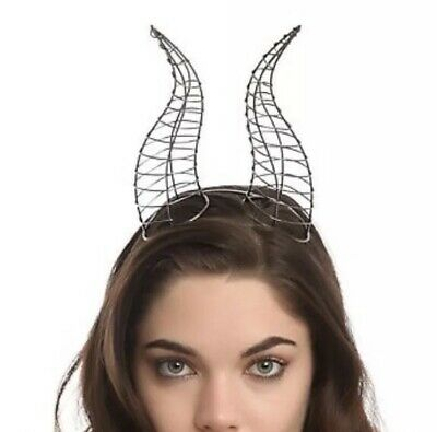 Disney Maleficent Movie Deluxe Wire Horns Headband Cosplay Costume Accessory