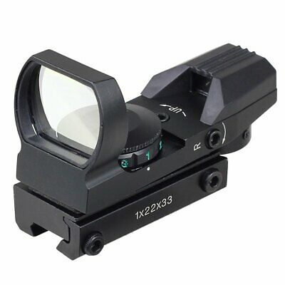 Tactical Holographic Red & Green Dot Sight Scope Reflex 4 Reticle Fit 11mm Rail