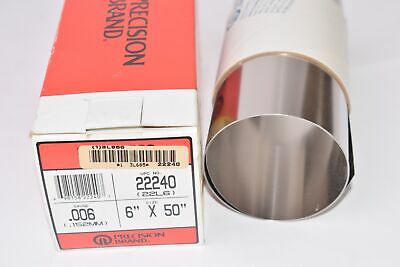 NEW Precision Brand 22240, .006, 6'' x 50'' Stainless Steel Shim