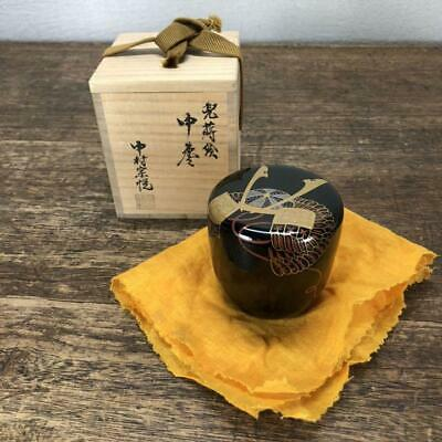 Tea Caddy Ceremony Natsume Makie Sado Japanese Traditional Craft t405
