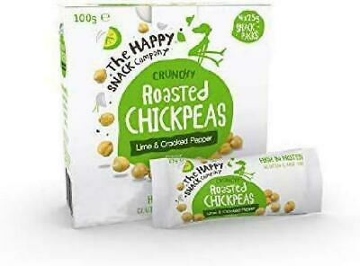 The Happy Snack Company Roasted Chickpeas, Lime  Cracked Pepper Flavour Healthy