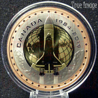 1984-2019 First Canadian in Space - 35th Anniversary - 25-cent Tri-Metallic Coin