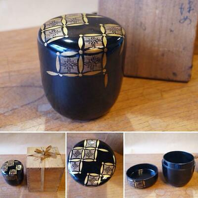 Tea Caddy Ceremony Natsume Sado Japanese Traditional Craft t421
