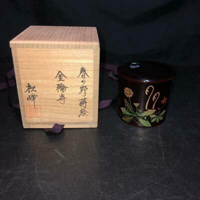 Tea Caddy Ceremony Natsume Sado Japanese Traditional Craft t427