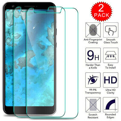 2Pack For Google Pixel 4 /4 XL/3A /3 /3 XL Tempered Glass Film Screen Protector