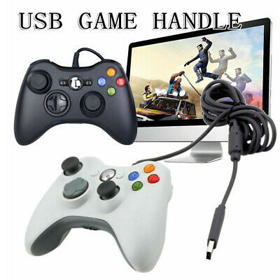 New White/ Black Wired Controller Console USB Game Handle