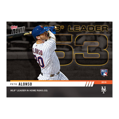 Pete Alonso RC 2019 Topps NOW #930  New York Mets MLB Home Runs Leader 53 HR PS