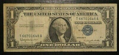 1957 B UNITED STATES - Silver Certificate - Blue Seal - 1 Dollar  (243K)