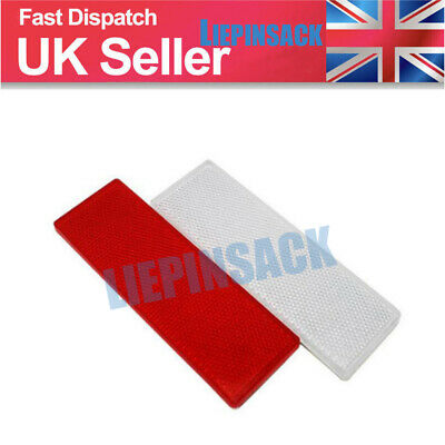 Car Rectangular Side Marker Reflector For Trailer Caravan Truck White+Red 2X