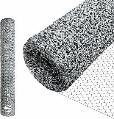Vounot Grillage A Poule Galvanise 1X10M Maille 13Mm Hexagonal Triple Torsion Cl