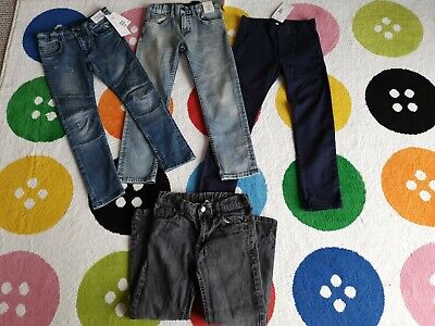 4 pairs boys jeans/trousers (3 brand new) H&M, M&S,  TU