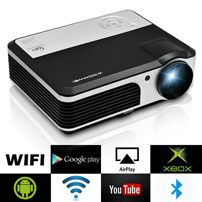 LED HD Android WiFi Projector Bluetooth Home Cinema 1080p HDMI Party Multimedia