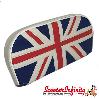 Backrest Pad (Union Jack Flag) (Universal, Vespa / Lambretta)