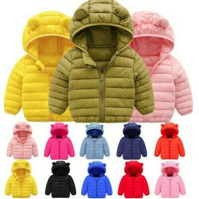 Toddler Baby Boys/Girl Winter Down outerwear Hooded coats Kid Jacket Clothes