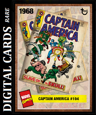 Topps Marvel Collect Card Trader Archives Wave 3 Captain America #104