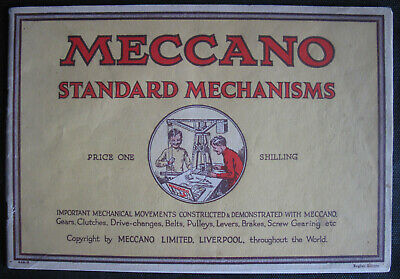 Meccano Standard Mechanisms 1928. Catalogue.