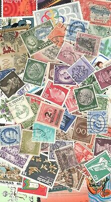 Worldwide Postage Stamps 30+ Used & Mint Off Paper FREE SHIPPING