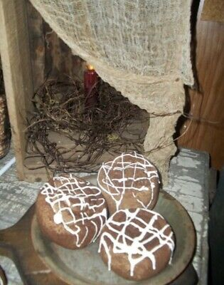 Primitive Farmhouse Grubby Handmade Cinnamon Rolls Kitchen Decor Artist Made