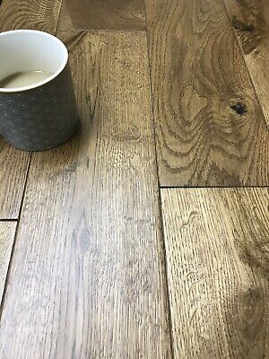 "ANTIQUE HAND CARVED OAK ENGINEERED WOOD FLOORING.125/14/3mm DIY. ✅✅✅""SAMPLE"""