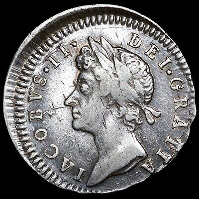 James II. Maundy Threepence 3d, 1686. Struck Off Centre.