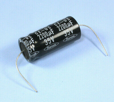 lot of 2-45C 85C C-Con Japan 35V 2200uF Electrolytic Axial Capacitors