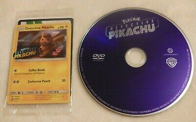 Pokemon Detective Pikachu (DVD only w/ Special Trading Card) Ryan Reynolds
