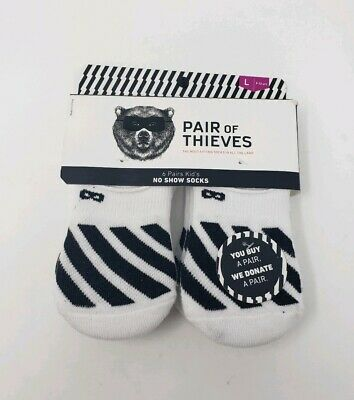 9-12 Years Pair Of Thieves ~ NWT Youth Kids 6-Pair No Show Socks White ~ L