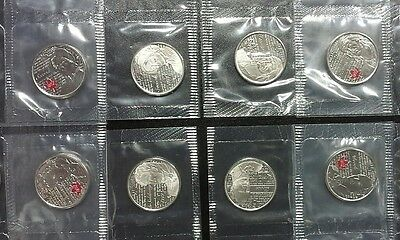 8 pc Canada 2012 - 2013 Sealed 1812 War quarter coin set from pack sheet