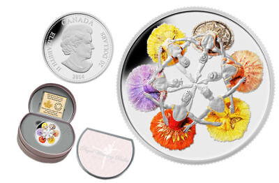 2014 Canada $20 Fine Silver Coin - 75th Anniversary of the Royal Winnipeg Ballet