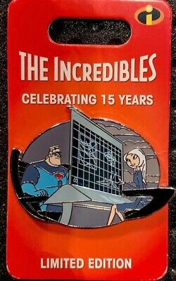 Disney Parks The Incredibles 15th Anniversary Mr. Incredible & Mirage Pin LE3000