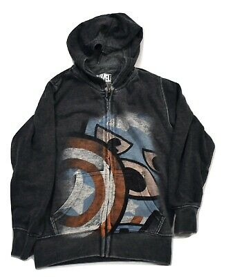 Marvel Boys/' Captain America Frontman Juvy Navy Zip Hoodie Marvel Comics