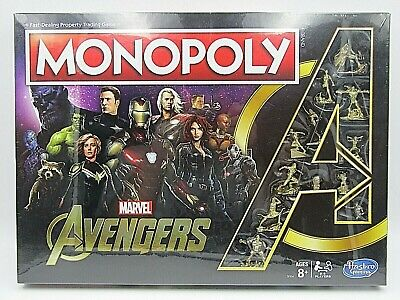 Monopoly Marvel Avengers Golden Endgame Special Edition RARE Collectors Game