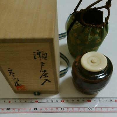 Tea Caddy Ceremony Chaire Sado Japanese Traditional Crafts t505
