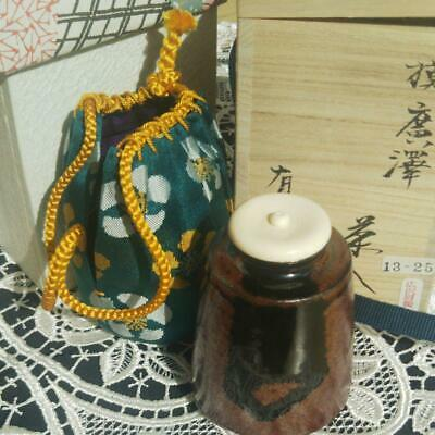 Tea Caddy Ceremony Chaire Sado Japanese Traditional Crafts t506