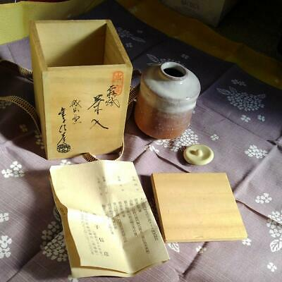 Tea Caddy Ceremony Chaire Sado Japanese Traditional Crafts t518